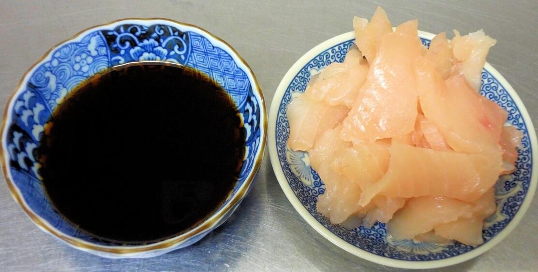 マグロ漬け丼の材料