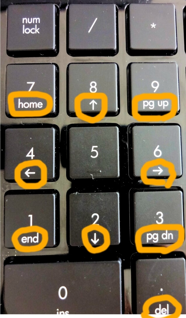 numlockキーの説明