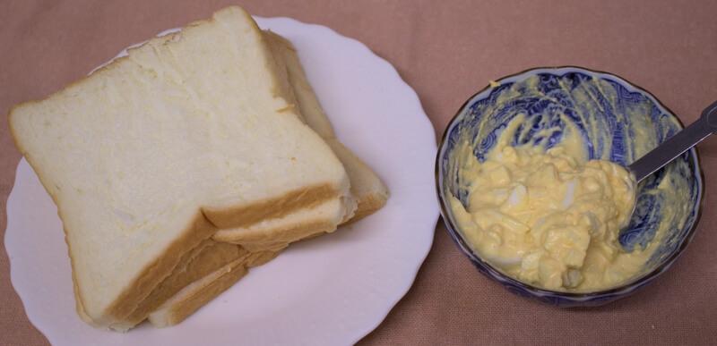 卵サンドイッチ材料