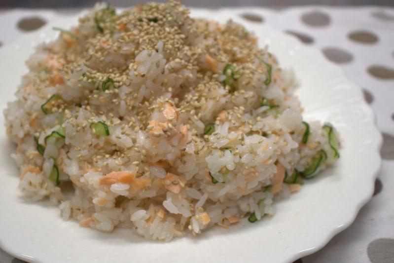 鮭のお寿司の完成